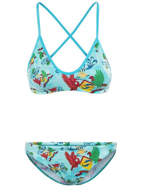 Turbo Caribean - Bikini Femme - turquoise/Multicolore